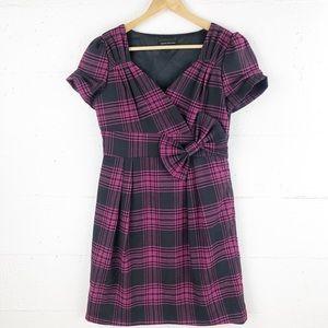 Black / Pink Plaid Dress